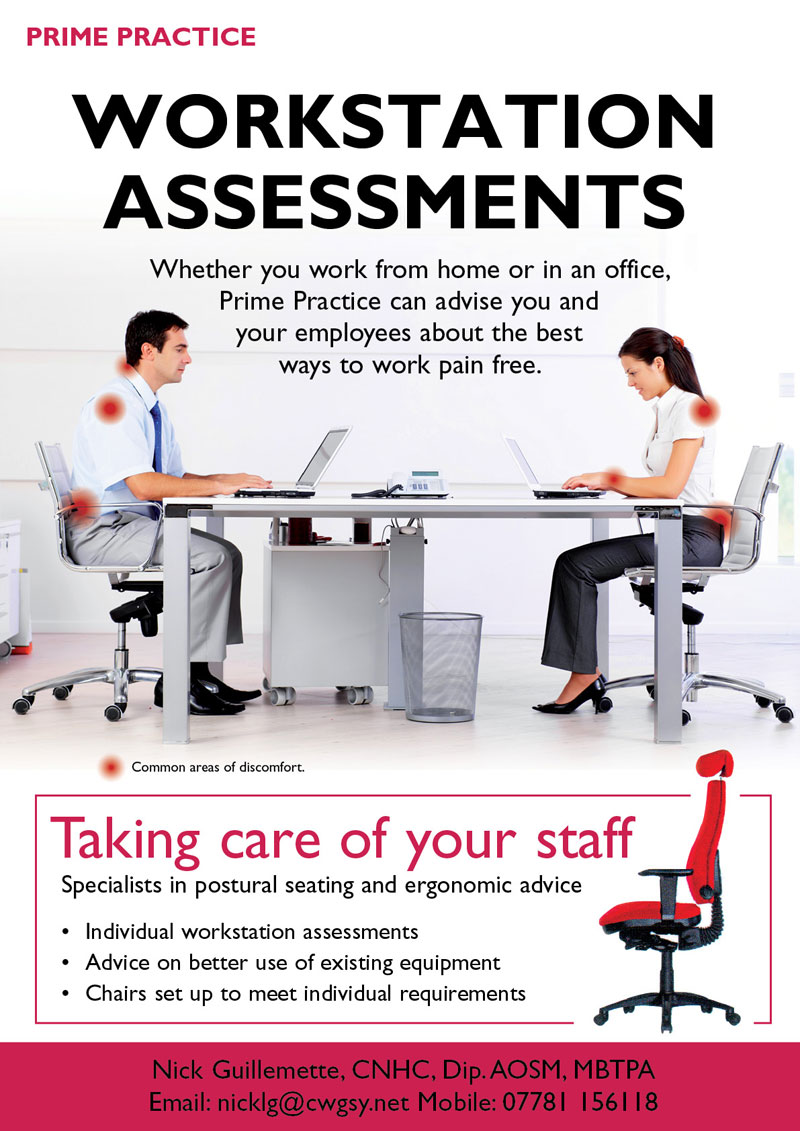 Ergonomic Workstation Assessments Guernsey Nick